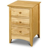 Morento Pine 3 Drawer Bedside Chest - NETFURNITURE