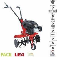 Motobineuse thermique 4 temps 5,5 cv 173 cc 6 fraises travail 60cm LEA LE41175-60W