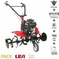 LEA - Motobineuse thermique 5,6cv 212cc euro 5 2 vitesses AV 1 AR largeur travail 105cm LE4212-105DW