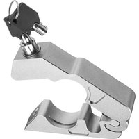 Motorcycle Handlebar Lock Brake Clutch Security Safety Theft Protection Lock with 2 Keys,model:Silver