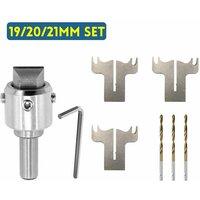 Drillpro - Multifunction Wooden Ring Drill Bit Cutter Mill Maker High Speed ??Woodworking (19/20 / 21MM Set)