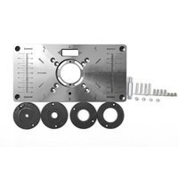 Multifunctional Router Table Insert Plate Black