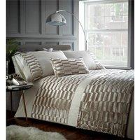 Murray Velvet Oyster Super King Quilt Duvet Cover Bedding Bed Set Cream Soft Pattern Design