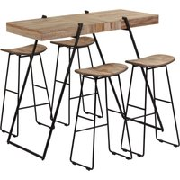 Nance Dining Set with 4 Chairs by Brown - Borough Wharf