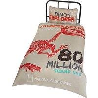 National Geographic Raptor Fossils Reversible Duvet Set (Single) (Grey)