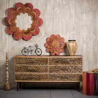 Relaxdays - Native Home Designer Sideboard, Modern Chest of Drawers, Solid Mango Wood, HxWxD: 78 x 147 x 48 cm, Brown