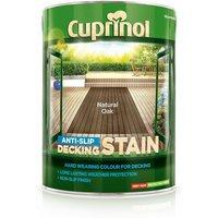 Anti Slip Decking Stain - Natural Oak - 5 Litre - Cuprinol