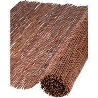 Nature 2 pcs Garden Screens Willow 1x5 m 5 mm Thick - Brown