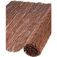 Nature Garden Screen Willow 1x5 m 5 mm Thick - Brown