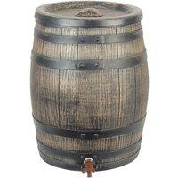 Zqyrlar - Nature Rain Butt With Wood Look 120L 50.5x66 cm Brown - Brown