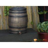 Zqyrlar - Nature Récupérateur d'eau avec aspect de bois 50 L 38x49,5 cm Marron