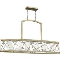 Elstead Lighting - Elstead Nest - 6 Light Ceiling Island Pendant Bar Chandelier Silver Leaf, E27