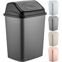 New 16L Plastic Flip Top Waste Bin Swing Lid Garbage Rubbish