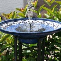 Soekavia - New solar fountain, 1.5W bird bath fountain garden decoration, garden decoration solar fountain, for outdoor mini pond