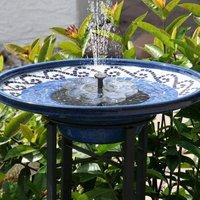 [NEW] Solar Fountain, 1.6W Outdoor Garden Fountain, TekHome Water Fountain, Garden Decor, Mini Water Pump, Pond Pump / Pool Fountain, Outdoor Pond