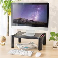 Monitor/Laptop Stand 10-32 Adjustable 4.6-16.8 cm Black - Black - Newstar