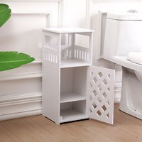 Nightstand Bedside Table Bedroom Side Storage Drawers 26X24X59CM White