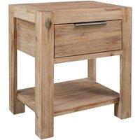 Nightstand with Drawer 40x30x48 cm Solid Acacia Wood - Brown