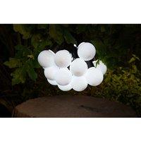Solar 20 LED White Festoon Bulb String Garden Lights 6817006 - Noma
