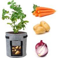 7 Gallon Potato Grow Bags Planter Box Vegetable Grow Bag Breathable Nonwoven Fabric Garden Growing Bag with Handles Access Flap for Potato Tomato