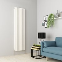 Warmehaus - Norden 1800 x 473mm White Double Oval Tube Vertical Radiator