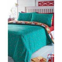 North Pole Christmas Double Duvet Cover Set Bedding Quilt Bed Set - BEDMAKER