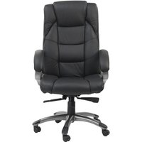 Northland High Backed Executive Chair In Soft-Feel Leather Black