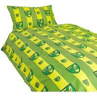 Crest Duvet Cover Set (Single) (Green/Yellow) - Norwich City Fc