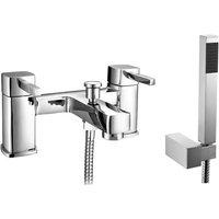 Nova Chrome Bath Shower Mixer and Shower Kit