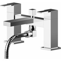 Sanford Deck Mounted Bath Shower Mixer Tap with Shower Kit - Chrome - Nuie