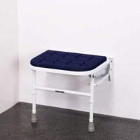 Premium Wall Mounted Padded Shower Seat with Legs - Electric Blue - Nymas