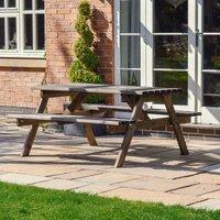 Oakham Picnic Bench 8ft - Rustic Brown