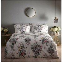 Oasis Botanical Bouquet Ivory Duvet Cover Bedding Set, Super King, 260x220cm