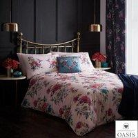 OASIS LEENA Blush Pink Multi Florals and Birds Design Duvet Cover Bedding Sets - KING SIZE - CLARKE and CLARKE
