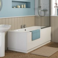 Ocean Round 1700mm x 700mm Double Ended Bath - size 1700 x 700mm - color White