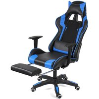 Office Chair Gaming Chair Ergonomic Game Reclining Blue Hasaki