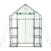 3 Tier 6 Shelf Portable Large Walk In Garden Greenhouse | Outdoor Clear PVC Plastic Grow House - Ogrow