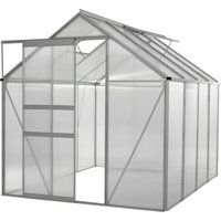 6x8 Ft Large Walk In Aluminium and Polycarbonate Garden Greenhouse   Grow House with Heavy Duty Frame and Clear Panels - Ogrow