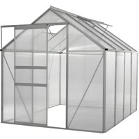Ogrow 6x8 Ft. Clear Polycarbonate Greenhouse - Large Aluminium Lawn and Garden Grow House - 48 Sq. Ft / 4.46 Mq