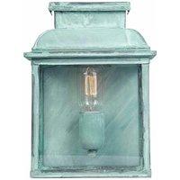 Old Bailey wall lamp, verdigris