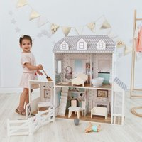 Olivias Little World - Olivas Little World Large Dreamland Farmhouse Dolls House Wooden Doll House 2.9ft With 14 Doll Accessories TD-12901A