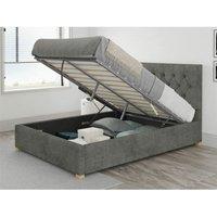 Aspire - Olivier Ottoman Upholstered Bed, Kimiyo Linen, Granite - Ottoman Bed Size Superking (180x200)