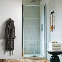 A6 Semi-Frameless Bi-Fold Shower Door 1000mm Wide - 6mm Glass - Orbit