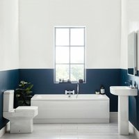 Denza Complete Bathroom Suite with Double Ended Bath 1700mm x 750mm - Orbit