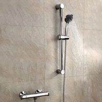 Entry Bar Mixer Shower with Adjustable Shower Riser Rail Kit - Chrome - Orbit