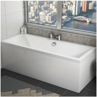 Solarna Double Ended Rectangular Bath 1700mm x 700mm - Acrylic - Orbit