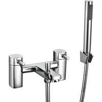 Zero Bath Shower Mixer Tap Pillar Mounted - Chrome - Orbit
