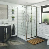 6mm bifold square shower enclosure 700 x 700 - Orchard