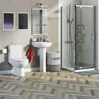 Balance complete pivot shower enclosure suite 700 x 800 - Orchard