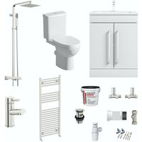 contemporary complete bathroom furniture suite with towel rail - Orchard